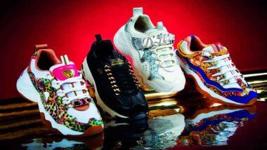 Zapatillas con pedrería
