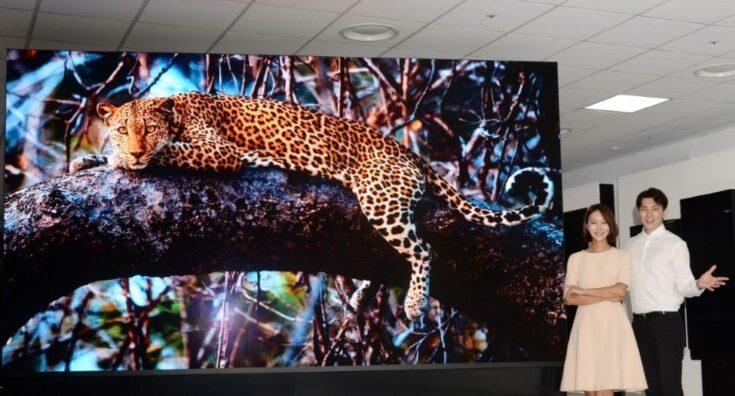 Nueva competencia: LG presenta un televisor de 163 pulgadas