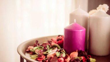 vela rosada para bendecir el hogar