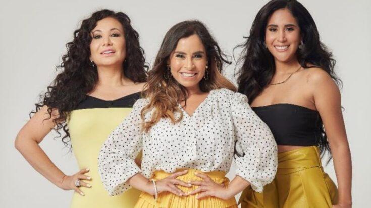 Ethel Pozo, Janet Barboza y Melissa Paredes